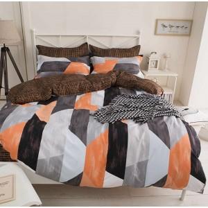Obojstranné posteľné obliečky s farebným geometrickým motívom