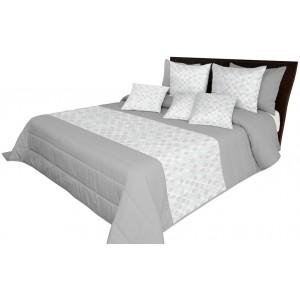 Sivý elegantný prehoz na posteľ so vzorom