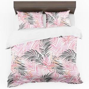 Obojstranné posteľné obliečky z mikrovlákna s motívom listov