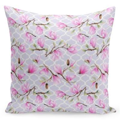 DomTextilu Rúžová obliečka zdobená kvetmi 40 x 40 cm 22597-140157