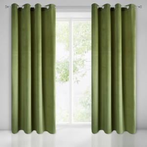 Štýlové zelené zatemňovacie závesy 140 x 250