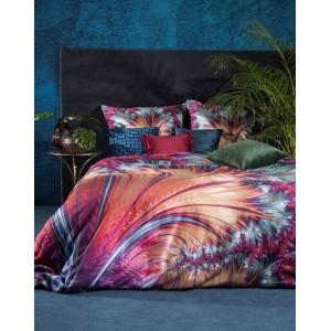Krásne hodvábne tyrkysové posteľné obliečky s výrazným vzorom EVA MINGE