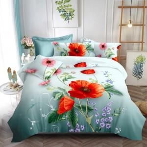 Žiarivé posteľné obliečky tyrkysovej farby