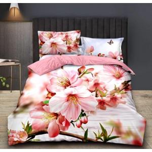 Nádherné posteľné obliečky s 3D kvetinovou potlačou