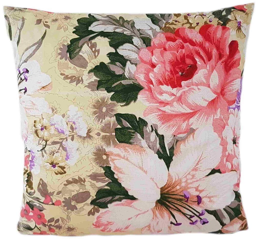 DomTextilu Luxusná kvetovaná obliečka 40 x 40 cm 23912-143378