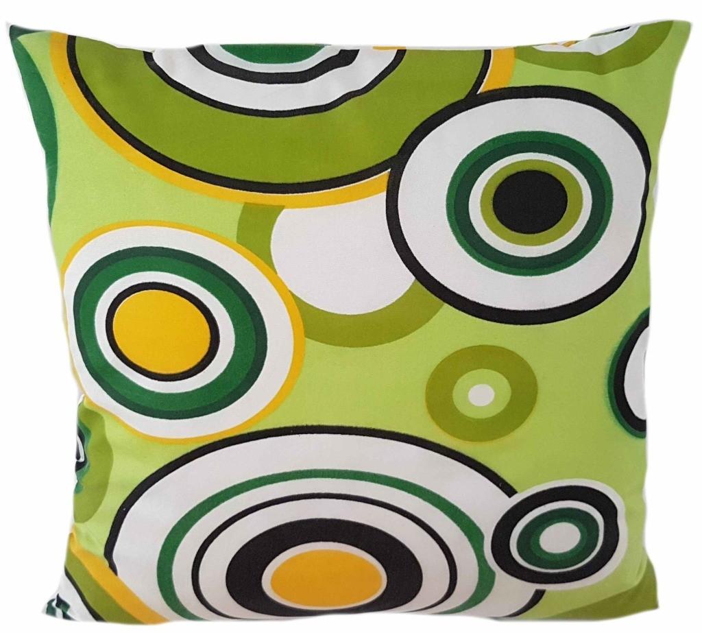 DomTextilu Zelená obliečka s potlačou 40 x 40 cm 23916-143390