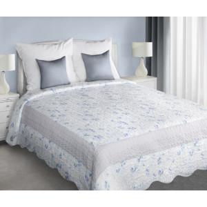 Elegantný prešivaný prehoz na posteľ svetlo sivej farby