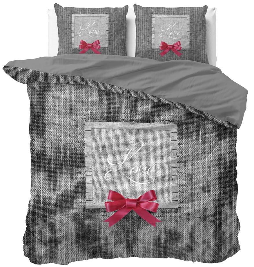 DomTextilu Romantické posteľné obliečky s nádpisom LOVE 200 x 220 cm 21174