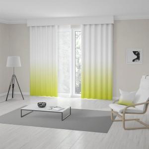 Designové závesy do obývačky v trendy ombré žlto zelenom prevedení