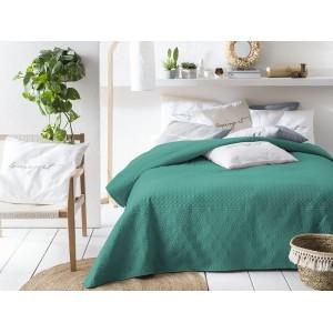 Prehoz na posteľ v zelenej farbe 170 x 210 cm