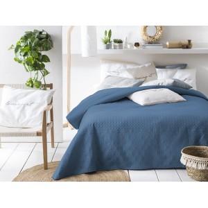 Prehoz na posteľ v tmavo modrej farbe 220 x 200 cm