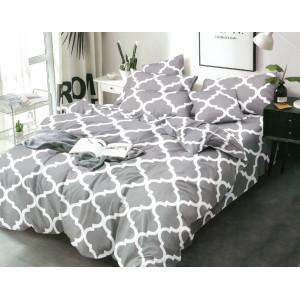 Krásne sivé posteľné prádlo z mikrovlákna so vzormi