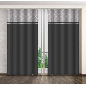 Moderný tmavo sivý záves do obývačky