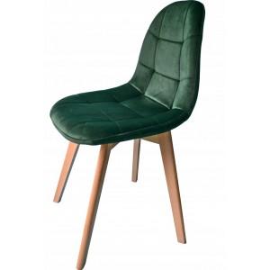 Moderná čalúnená stolička zelenej farby
