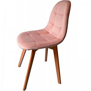 Pohodlná jedálenská stolička púdrovo ružovej farby
