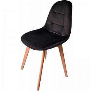 Elegantná čalunená stolička v čiernej farbe