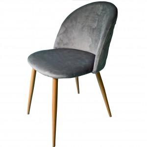 Exkluzívne čalunené kreslo do obývačky sivej farby