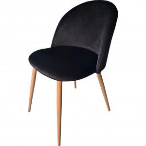 Čierne pohodlné kreslo s elegantným prešívaním
