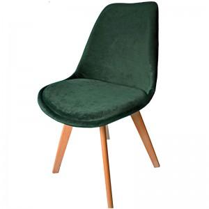 Moderná jedálenská stolička v zelenej farbe