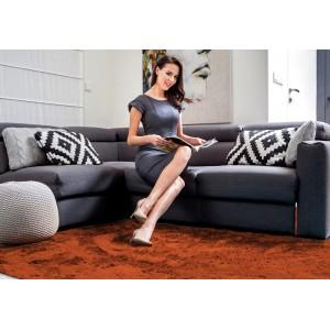 Luxusný hebký koberec hnedej farby 120x170 cm