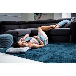 Tmavo modrý plyšový koberec 120x170 cm