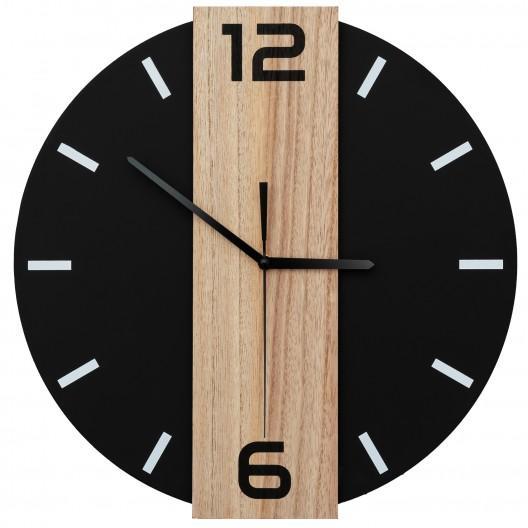 Exkluzívne nástenné hodiny v čiernej farbe