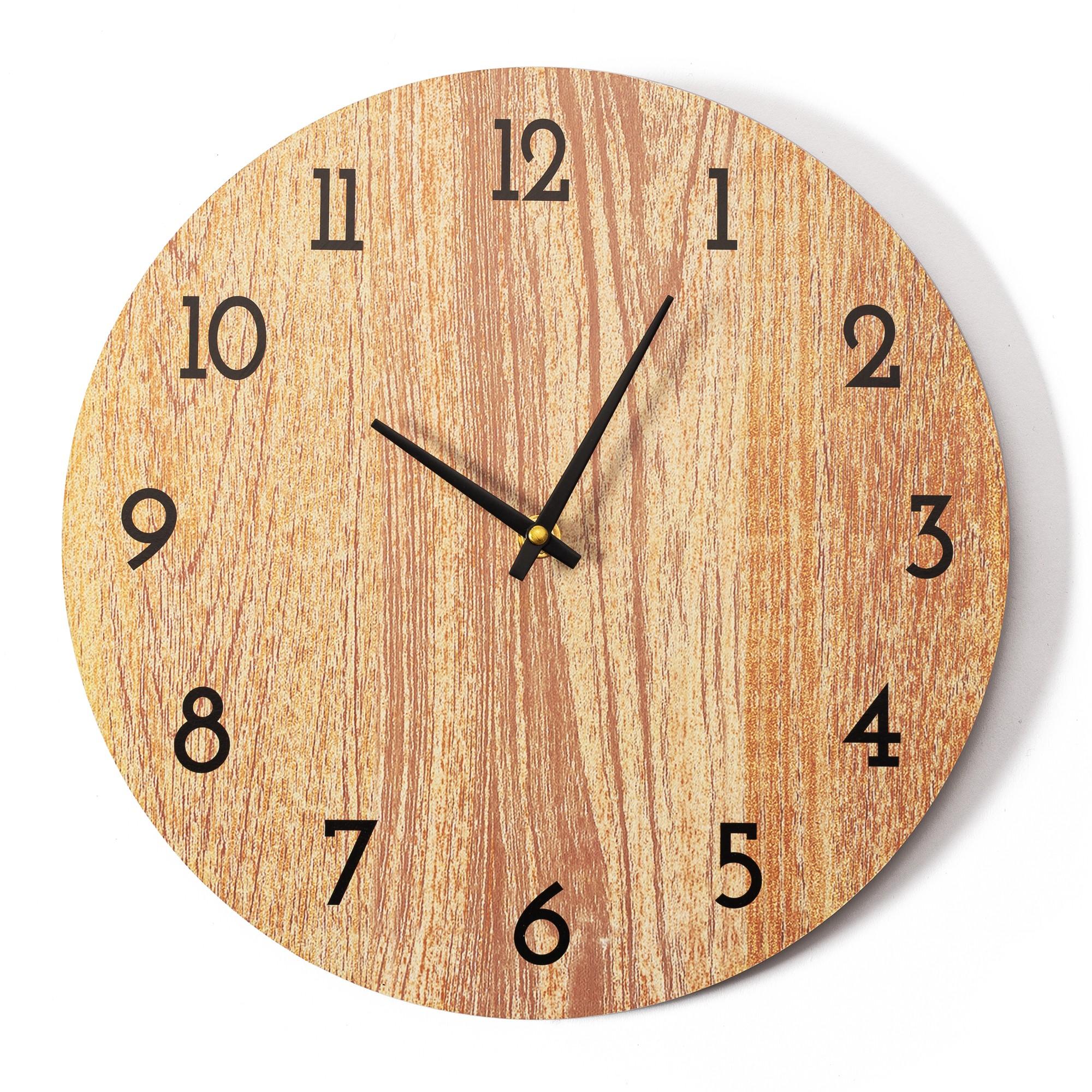 DomTextilu Klasické drevené nástenné hodiny do spálne 24623