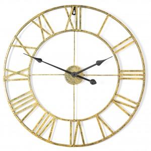 Kovové nástenné hodiny vo Vintage štýle