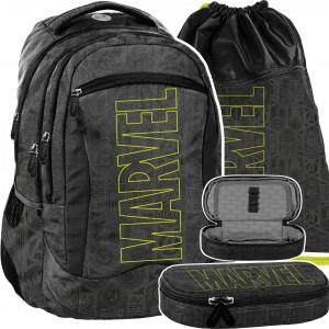 Štýlová školská trojdielna taška pre chlapcov MARVEL