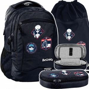 Originálna školská trojčasťová taška pre chlapcov UFO