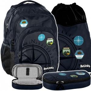 Moderná trojdielna školská taška pre chlapcov TRAVEL