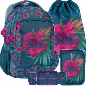 Krásna trojdielna sada dievčenskej školskej tašky BARBIE