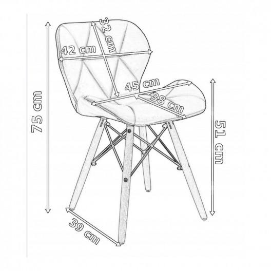 Moderná čalunená stolička tmavo sivej farby