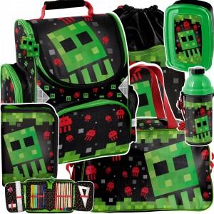 Úžasná školská šesťdielna taška pre chlapcov MINECRAFT