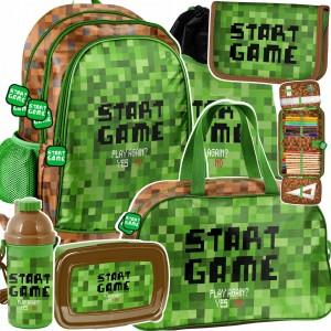 Štýlový školský šesťdielny batoh pre chlapcov MINECRAFT