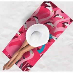 Ružová osuška na pláž s plameniakmi