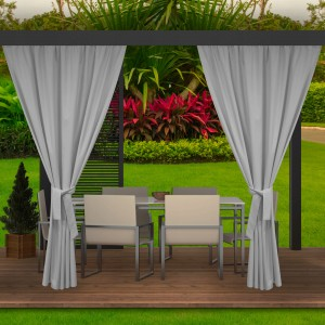 Kvalitný záhradný sivý záves do altánku