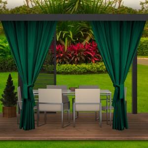 Úžasný záhradný tmavo zelený záves do záhradného altánku
