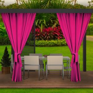 Luxusný hotový ružový záhradný záves do altánku