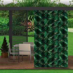 Zelený záves do záhradného altánku s motívom listov