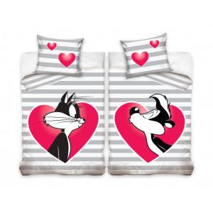 Detské bavlnené posteľné obliečky Looney tunes