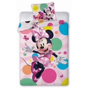 Krásne žiarivé posteľné obliečky Minnie