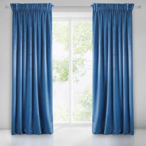 Interierové jednofarebné zavesy modrej farby