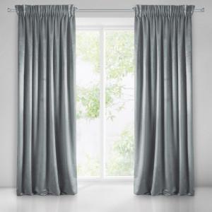 Interierové jednofarebné zavesy sivej farby