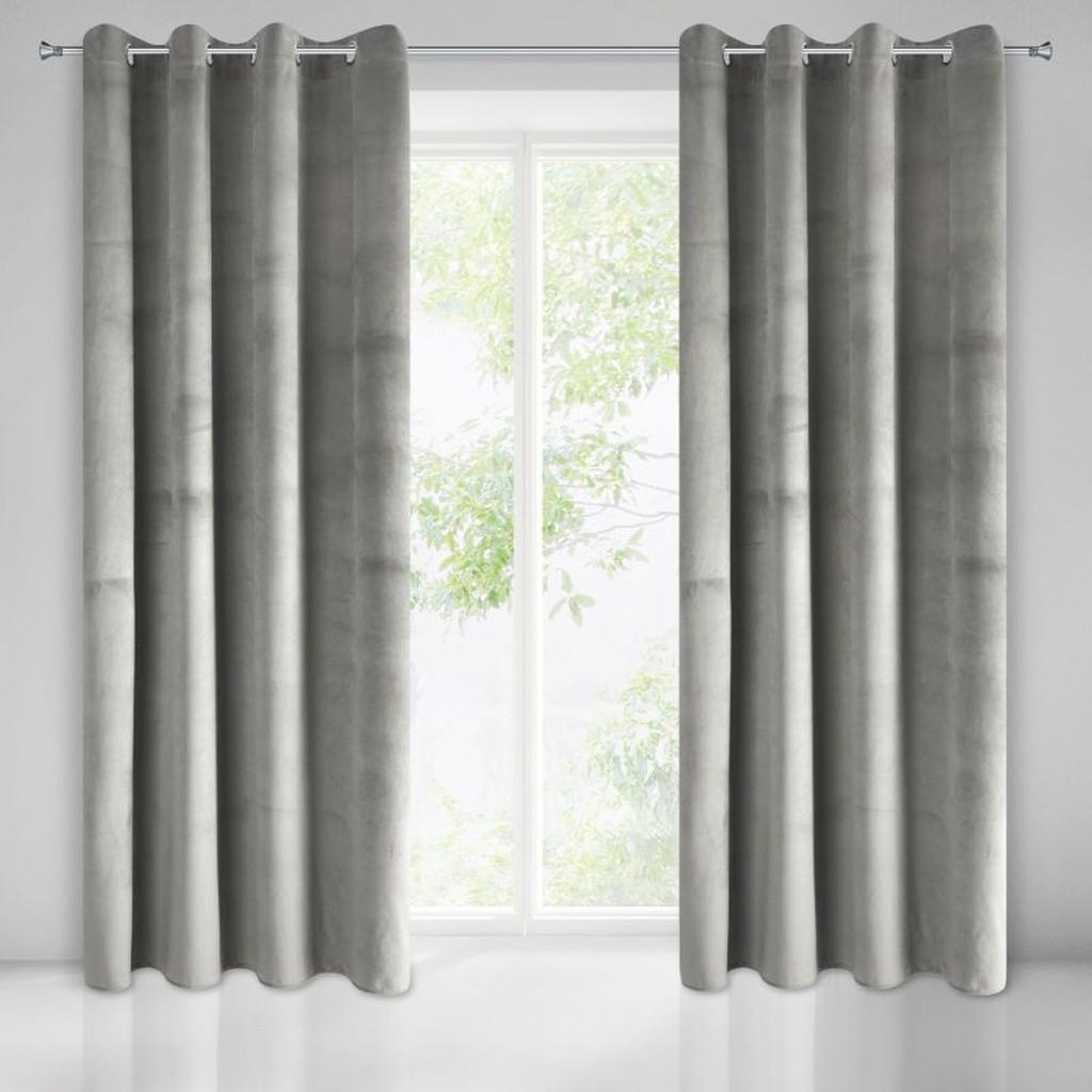 Moderné sivé zavesy do izby