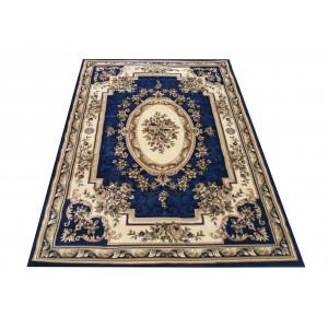 Vintage koberec v krásnej tmavomodrej farbe