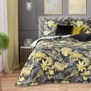 Exkluzívne posteľné obliečky s tropickým motívom žltej farby