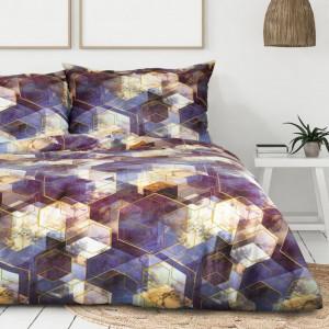 Pestrofarebné bavlnené obliečky s geometrickým motívom