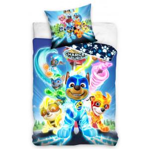 Detské posteľné obliečky PAW PATROL modrej farby