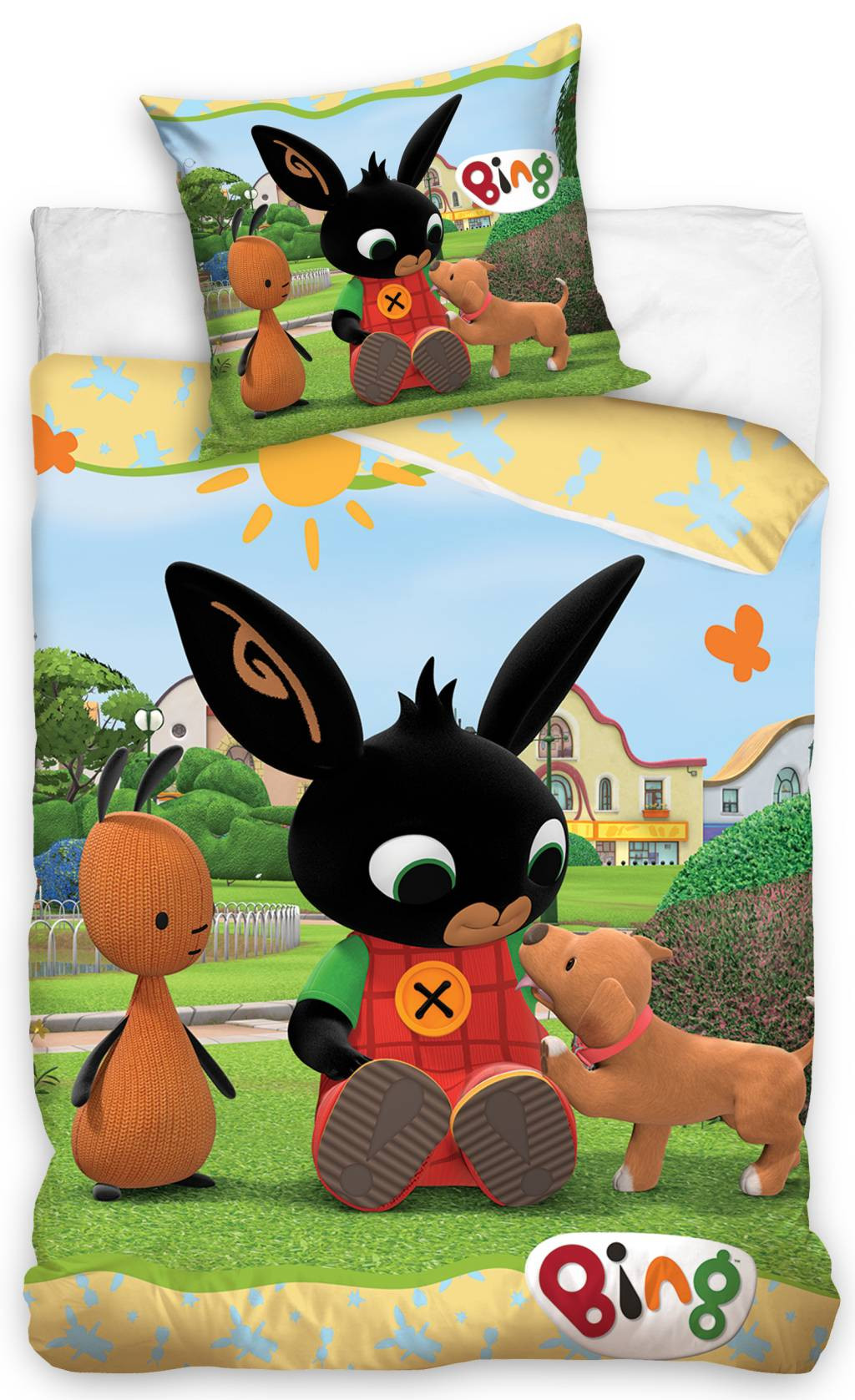 DomTextilu Pestrofarebné obliečky s motívom králika BING 70x90 cm 25864-150160